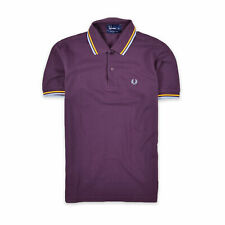 Fred Perry Herren Polo Poloshirt Shirt Classic Gr.XS Cotton Pique Lila 97590