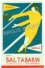 1939 MENU CALIFORNIA vs U.S.C. FOOTBALL BAL TABARIN SAN FRANCISCO ART DECO