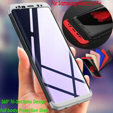 Samsung S9+ A8 S8 Etuis 360° Antichoc PC Dur Full Corps Protection Housse Coques