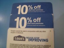 5 Lowes 10% Off physical COMPETITOR Coupon Exp 11/15/2018  to be mailed