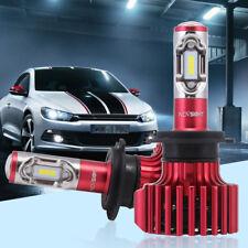 2018 Car 60W 10000LM KIT H7 6500K White LED Conversion Headlight Bulbs Globes