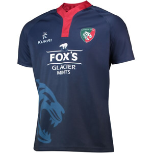 Leicester Tigers Rugby Shirt Men's Kukri 2019-20 Training Player Jersey - New