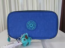 NWT Kipling Kay Sailor Blue Pencil Case Cosmetic Pouch