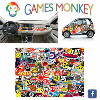 Pellicola Car Wrapping Adesiva 70x50 cm - STICKER BOMB 01 - Vinile PVC Lucido HD