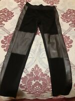 DKNY Women's Leggings With Leather Panels Black Size S