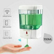 SOAP DISPENSER AUTOMATIC WALL MOUNTED GEL SANITIZER SHAMPOO BATHROOM 700ml