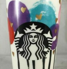NEW Starbucks GOLD HEARTS BALLOON LOLLIPOP Ceramic Coffee Travel Mug Cup Tumbler