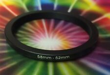 1(ONE) Black ADAPTER RING 58mm to 52mm 58-52mm Step Down Filter Ring 58-52 mm