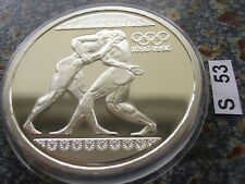 Griechenland 1000 Drachmen 1996 PP Olympiade Atlanta Ringen Stadion Athen 1 oz