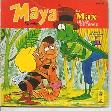 LIVRE DISQUE--MAYA L'ABEILLE ET MAX LE VER DE TERRE - EMISSIONS TF1--1978