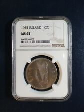 1955 Ireland HALF CROWN NGC MS65 1/2C Coin PRICED TO SELL QUICKLY!!