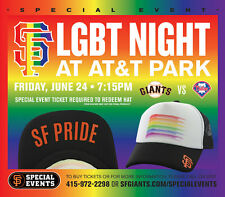 >> New 2016 SF Giants SGA LGBT Trucker Cap Hat not scarf