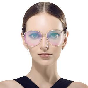 Beison Womens Men Pilot Classic Oversize Sunglasses Metal Frame Eyeglasses UV400