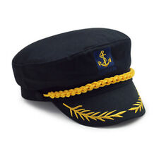 New Unisex Boat Ship Sailor Captain Costume Hat Cap Navy Marine Admiral Cosplay