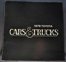 1978 Toyota Brochure Celica Corolla Cressida Corona Pickup Land Cruiser Original