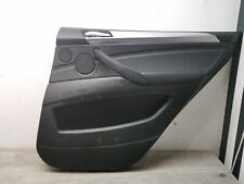 BMW X5 E70 REAR DOOR CARD RIGHT DRIVER SIDE IN BLACK
