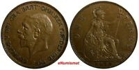 Great Britain George V Bronze 1932 1 Penny KEY DATE KM# 838