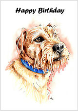 Birthday Card Border Terrier Dog Gift - CUSTOM TEXT - Gifts Patterdale