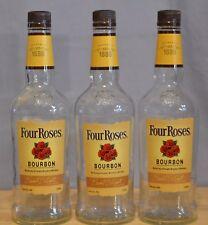 Four Roses Yellow Label Bourbon Whiskey 750 ml empty bottles embossed lamp craft