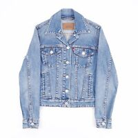 LEVI'S  Blue Grunge Cotton Blend Casual Denim Jacket Womens XS
