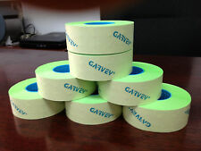 GENUINE GARVEY LABELS FOR PRICE GUN 22-6 22-7 22-8 GREEN FLUORESCENT 36 ROLLS