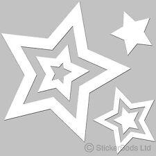36 Pegatinas de Estrella Blanca Calcomanías Para Coche | | Portada de pared t6