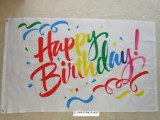 3' X 5' HAPPY BIRTHDAY FLAG 3 X 5