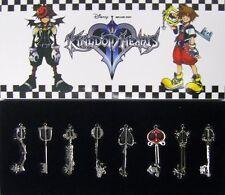 Kingdom Hearts II  2, 8 2.5 inch Keyblade Pendant  Set 2 Sora Roxas Keyblades