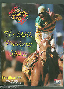2000 Preakness Stakes Horse Racing program Red Bullet Jerry Bailey TOUGH!