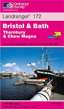 Bristol and Bath: Thornbury and Chew Magna (Landranger Maps)-ExLibrary