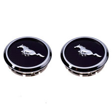 2005-2014 Ford Mustang Wheel Center Cap Covers Black Chrome Pony Emblem OEM NEW