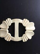 Vintage Cream Plastic Belt Buckle DIY
