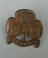 Girl Guide Vintage Bronze Pin Badge,  22mm wide