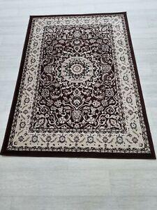 Quality Rug Brown Beige Black 120cm x 170cm Soft Touch Living Room Carpet