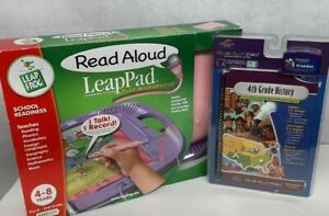 Leap Pad Read Aloud Plus Microphone Leap Frog Learning System 2 book 3 cartridge