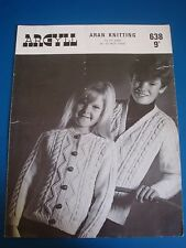 Argyll Children's Aran Cardigans Knitting Pattern 638