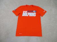 Nike Miami Dolphins Shirt Adult Small Orange White NFL Football Mens B37