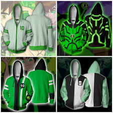 Ben 10 Hoodies 3D Print Sweatshirts Zipper Hooded Casual Jacket Unisex Coat Top