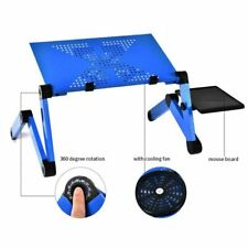 Adjustable Laptop Table Cooling Tray Portable Bed Computer Desk Stand Folding