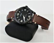Armbanduhr Fossil Herren-XL Nate Analog Quarz Leder JR1450 Batterien gewechselt