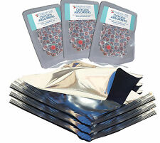 (25) 1 Gallon GENUINE MylarⓇ Bags + PackrFreshUSA (30) 500cc Oxygen Absorbers