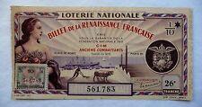 ANCIEN BILLET DE LOTERIE NATIONALE 1941 / ANCIENS COMBATTANTS / 26e TRANCHE