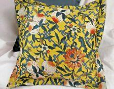 """PILLOW 16"""" x 16""""  GINGER PEACH New fabric Ralph Lauren NAVY back"""