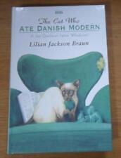The Cat Who Ate Danish Modern Lilian Jackson Braun 'Jim Qwileran' large print