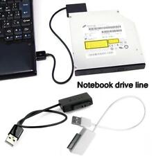 USB 2.0 to 6P + 7P SATA Laptop CD/DVD Rom Optical Drive Adapter Cable Converter