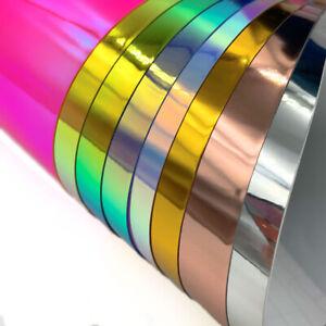 8pcs 30*25cm Holographic Chrome Craft Adhesive Vinyl Cup Decor for Cricut Xmas