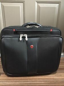 """Wenger Swiss Gear 17"""" Rolling Carry-On Laptop Briefcase Wheeled Bag Black Case"""