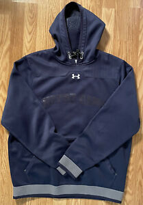 Notre Dame Football Team Issued Under Armour Hooded Sweatshirt Large