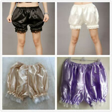Women Satin Knickers Panties Pumpkin Bloomer Shorts Underwear Underpants Lace
