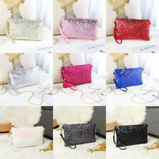 Ladies Designer Sequins  Evening Bag Clutch Purse Chain Handbag Shoulder Bag